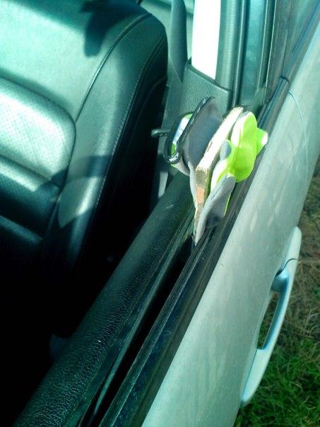 как открыть водительскую дверь опельвектра в 1998гш
