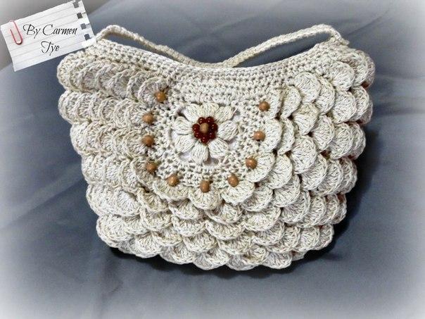 Delicadezas en crochet gabriela bolso - Bolso ganchillo paso a paso ...