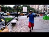 Уличный рэпер спел рэп про бокс для Бахтияра Эюбова (Нью Йорк, США)