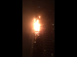 Fire in Marina Torch Tower in Dubai | Vision #1