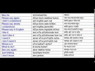 Learn Bengali Language - Lesson 1