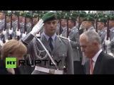 Германия: Меркель приветствует Австралийский ПМ Тернбулл с полными военными почестями.