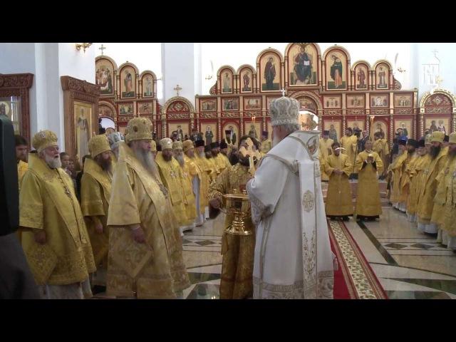 Патриарх освятил верхний храм Троице-Владимирского собора г. Новосибирска