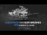 CHEATPACK_1400_SCIFI_BRUSHES (1435 High-Resolution brush for Photoshop)