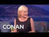 Kirsten Dunsts First Kiss Was Brad Pitt  - CONAN on TBS