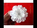Flores blancas white flowers on ribbons en cintas para el cabello vídeo en HD