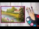 Видео урок Как написать картину МАСЛОМ На берегу реки! Dari_Art