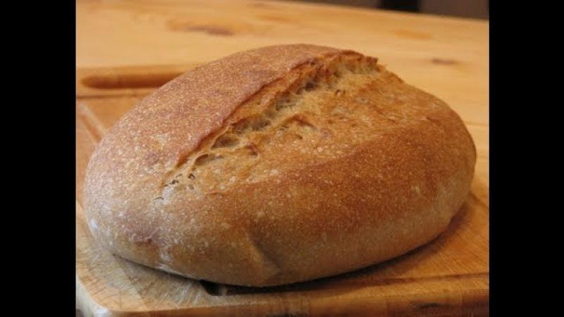 Французский белый хлеб на закваске