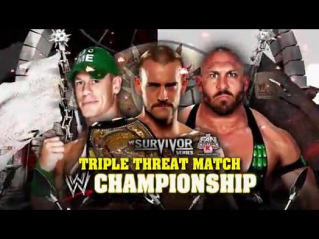 CM Punk VS Ryback VS John Cena - Survivor Series 2012