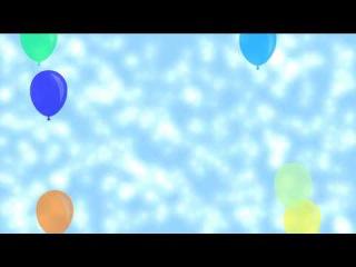 Футажи HD. День рождения, Шарики.