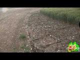 BRIEF TORNADO AND LARGE 3 INCH HAILSTONES POUND COLORADO (061110)