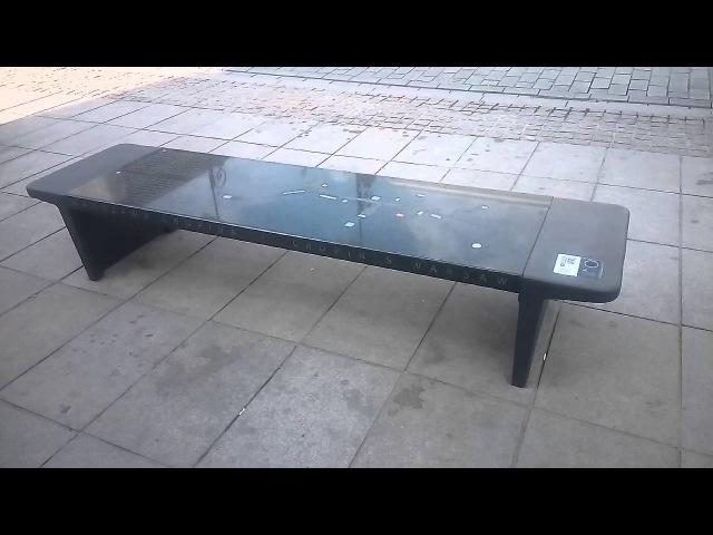 Frederik Chopin Music-Playing Bench in Warsaw (Poland)