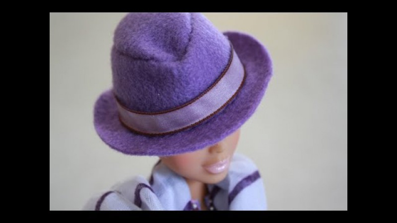 How to Make a Doll Size Fedora - Doll Crafts