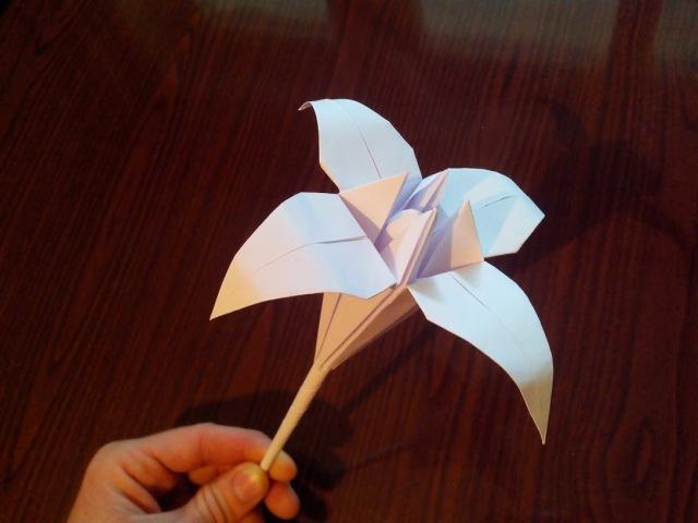 Лилия оригами origami lily