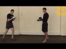 Тайский бокс Пушкик через финт (Артем Левин)