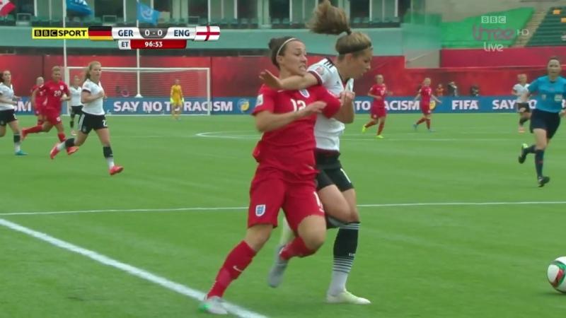 Жорсткі моменти в матчі Німеччина - Англія (Жіночий ЧС-2015)