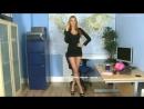 Pantyhose, Nylon, Silk Fetish ∞ sexy girl black mini dress ass Сексуальная секретарша в мини платье разговаривает по телефону