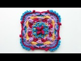 Colorful overlay crochet square tutorial, part 2 of 3