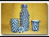 Двухцветное спиральное плетение из газет / Two-color spiral weave from newspapers