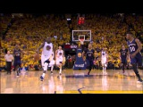 Andre Iguodala Finishes the Fast-Break with the Alley-Oop Slam