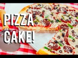 Пицца   How To Make A PIZZA CAKE!  Buttercream sauce, candy toppings and brûléed fondant crust!