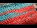 How to Knit The Horizontal Herringbone Stitch Узор Колосок