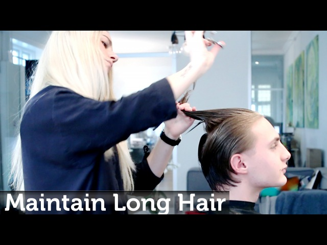 Maintaining mens long hair while growing it out