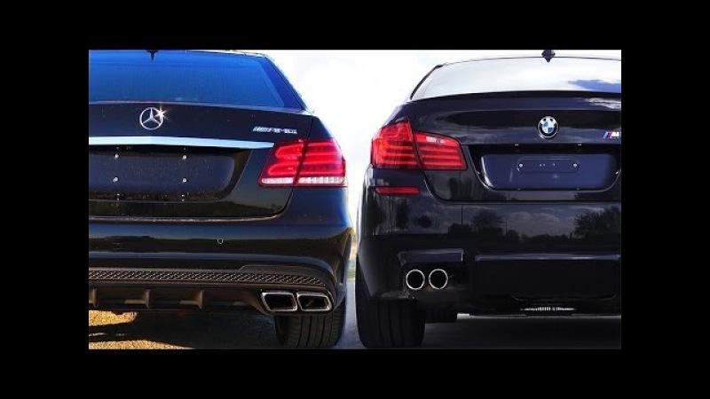 Mercedes E63 AMG vs BMW M5 F10 Review Impressions SOUND Onboard Acceleration Revs V8 Turbo W212 2014
