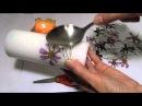 Мастер-класс Как задекорировать свечу с помощью сухоцветов