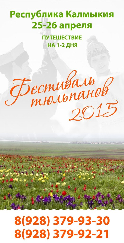 Афиша Пятигорск Фестиваль Тюльпанов 2015 (из КМВ)