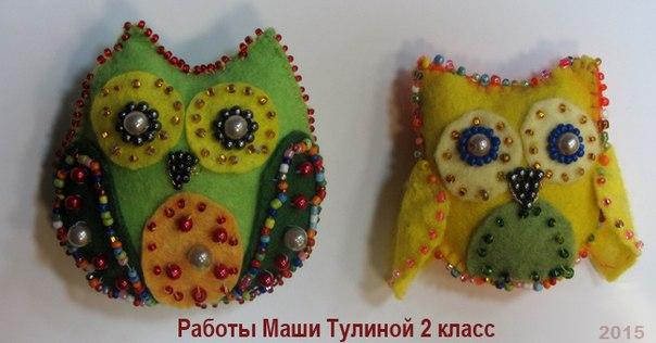 игрушки из фетра и бисера