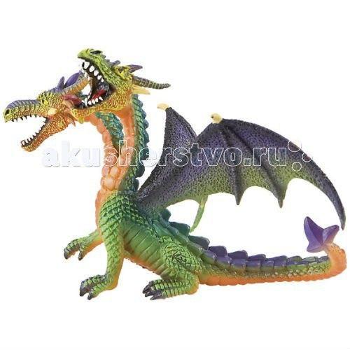 Фигурка двуглавый дракон зеленый 13 см, Bullyland