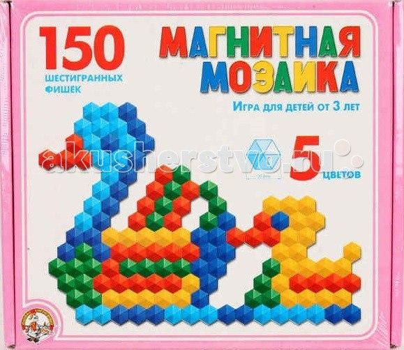 Мозаика магнитная шестигранная 150 фишек 00960, Тридевятое царство