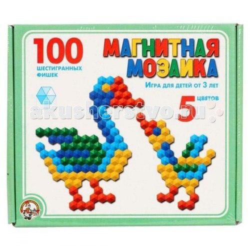 Магнитная мозаика 100 шестигранных фишек 00961, Тридевятое царство