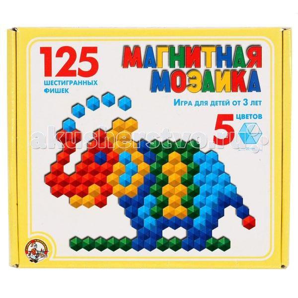 Шестигранная магнитная мозаика 125 деталей 00962, Тридевятое царство