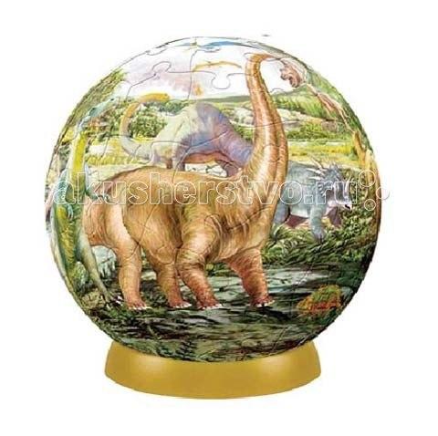 Шаровой пазл динозавры 240 деталей, Pintoo