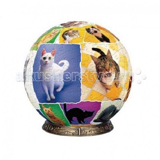 Шаровой пазл мир кошек 60 деталей, Pintoo