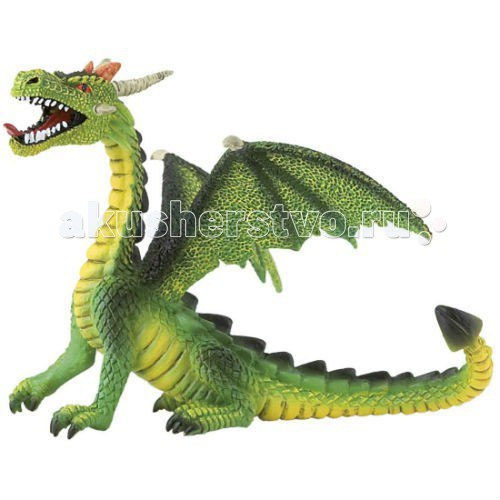 Фигурка дракон зеленый 11 см, Bullyland