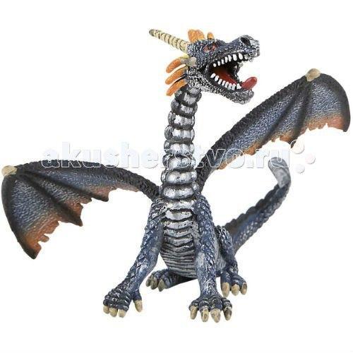 Фигурка дракон серебристый 11 см, Bullyland