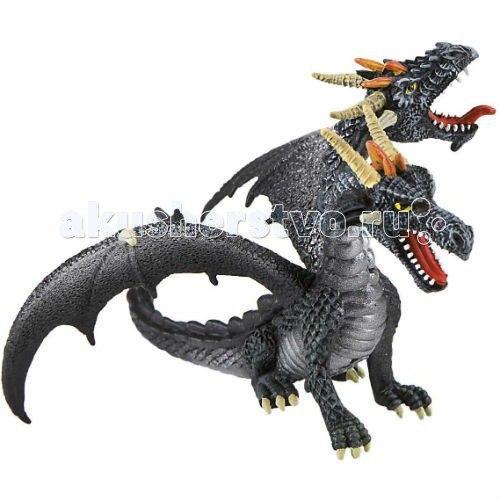 Фигурка двуглавый дракон черный 13 см, Bullyland