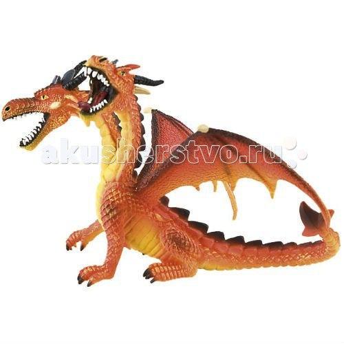 Фигурка двуглавый дракон оранжевый 13 см, Bullyland