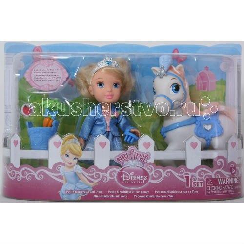 Набор с мини-куклой малышки принцессы c конем золушка 15 см, Disney