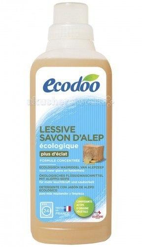 Универсальное жидкое средство для стирки белья с мылом alep 750 мл, Ecodoo