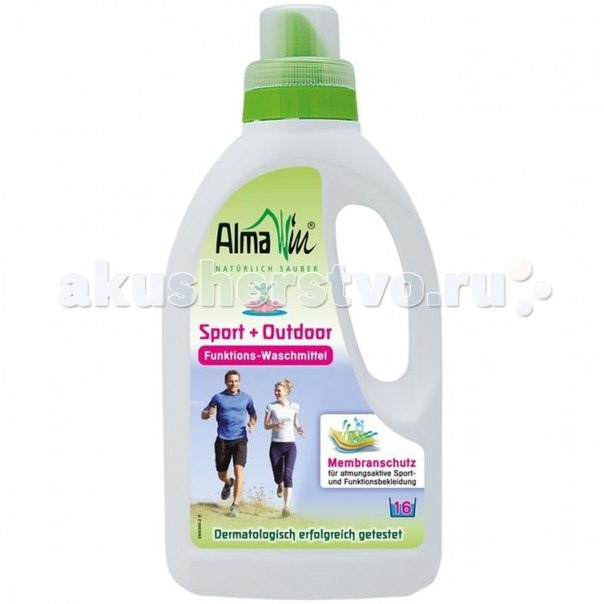 Жидкое средство для стирки спортивных и мембранных тканей 750 мл, AlmaWin