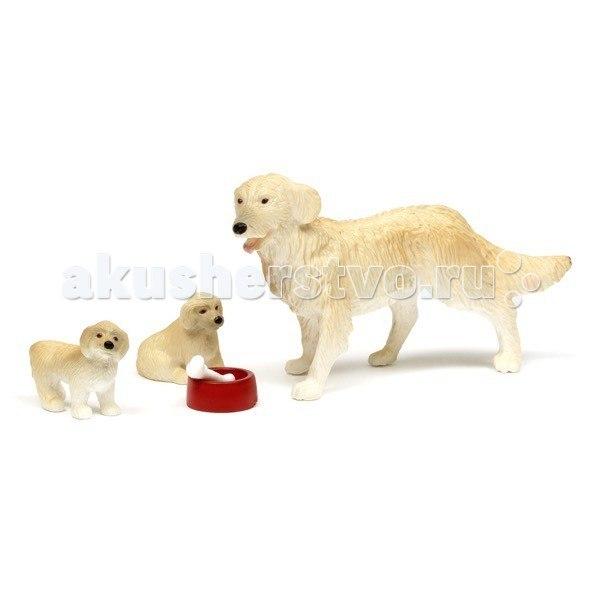Фигурки смоланд пес семьи с щенками, Lundby