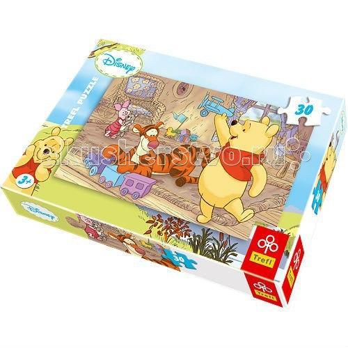 Пазл для малышей игрушки винни пуха 30 деталей, Trefl