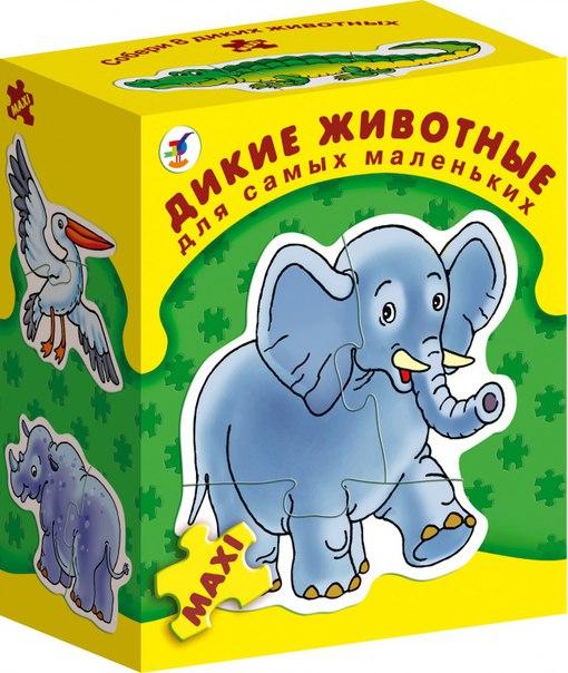Настольная игра дикие животные серия для самых маленьких, Дрофа