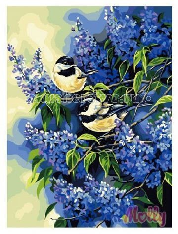 Картина по номерам голубая сирень 40 х 50 см, Molly