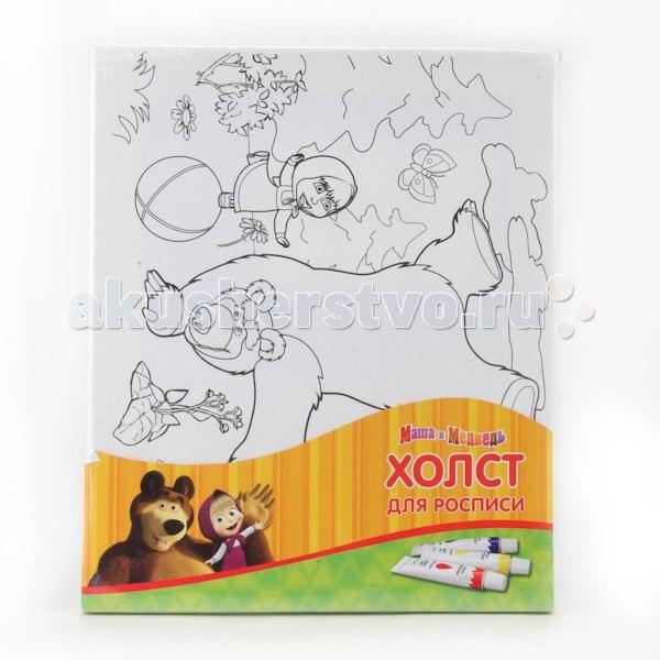 Холст для росписи маша и медведь 2530-8 (48), Играем вместе