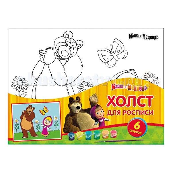 Холст для росписи multiart маша и медведь-3, Играем вместе